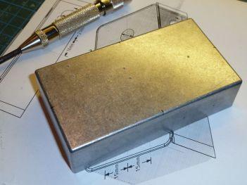Box prepared for drilling