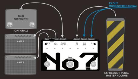No7 in dual amp setup