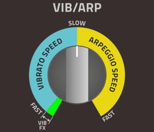 Sound Cartridge VIB/ARP knob