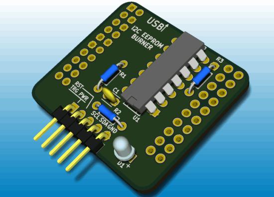 FV1 Programmer PCB render