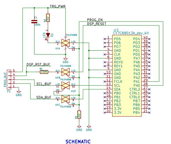 FV1 Programmer schematic